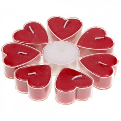 Набор Сердцевидные Свечи Роза