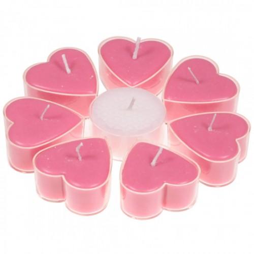 Набор Сердцевидные Свечи Вишня